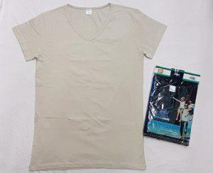 زیرپوش مردانه نیم آستین رنگی یقه هفت پنبه لاکرا قیمت جین : ۲۳۵۰۰۰تومان
